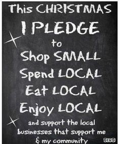 Shop local, shop small for your Christmas gifts, party ideas and decorations! Thank you....