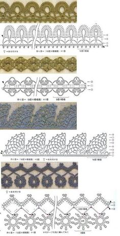 Crochet edges #crochet patterns #afs collection