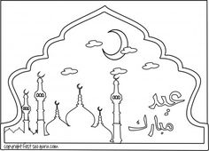 free print out eid mubarak coloring pages for kids.free online Printable celebrate Eid mubarak coloring book for kids.print out islamic activities worksheets for kids.word search,crafts for kids,preschool,mazes puzzles Mosque coloring page Ninjago Coloring Pages, Kids Printable Coloring Pages, Unicorn Coloring Pages, Halloween Coloring Pages, Disney Coloring Pages, Christmas Coloring Pages, Coloring Pages For Kids, Coloring Books, Eid Crafts