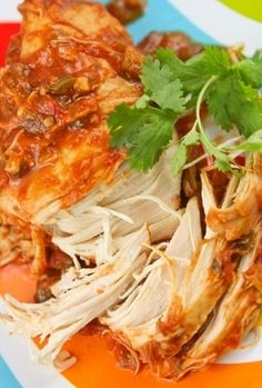 Cilantro Lime Chicken Recipe in the Slow Cooker - super simple but still real food (spicy!)