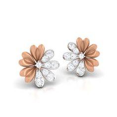 Vine Diamond Earring