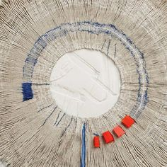 In her work, Textile Artist Caroline Bartlett explores the historical, social and cultural associations of textiles and their ability to trigger a memory. Textile Texture, Textile Fiber Art, Textile Artists, Fibre Art, Cocoon, Art Populaire, Creative Textiles, Textiles Techniques, Weaving Textiles
