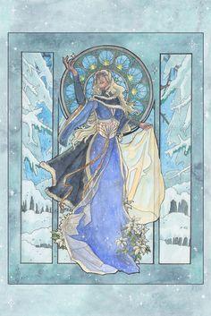 Lady Snowflake by AngelaSasser (print image)