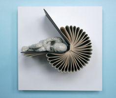 Book sculptures by Daniel Lai