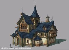 Pin by Lucy Hain on scenary in 2020 Medieval houses Fantasy house Fantasy town