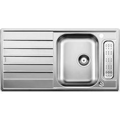 CHIUVETA DE BUCATARIE BLANCO LIVIT 5 S CENTRIC 18/10 FINISAJ INOX ,MONTAJ CLASICA PE BLAT CU MARGINE SI PROFIL CONVENTIONAL - Iak Home Appliances, White People, House Appliances, Appliances