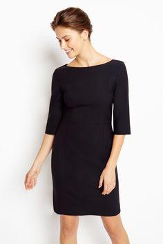 Of Mercer -- Madison dress. | Black Italian wool. Tailored in New York.
