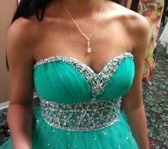 Aqua jewel short semi formal homecoming valentines sweethearts or ...