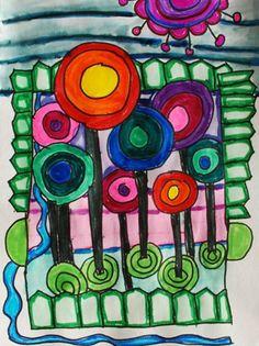 "From exhibit ""Hundertwasser"" by Gabby832 (Art ID #12699711) from Alum Creek Elementary School on Artsonia"