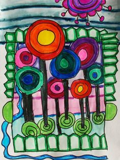 "From exhibit ""Hundertwasser"" by Gabby832 (Art ID #12699711) from Alum Creek Elementary School on Artsonia"