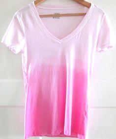 DIY dip dye tshirt! (klik op foto voor beschrijving)