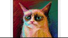 iPad art -  Grumpy Cat
