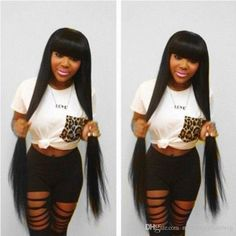 Full Lace Human Hair Wigs For Black Women Full Density Brazilian Straight Lace Front Human Hair Wigs Glueless Full Lace Wigs With Bangs Full Lace Wigs Under 100 Dollars Hair Wigs For Sale From Newvirginhairwig, $77.19| Dhgate.Com