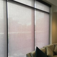 Our Qmotion roller blind looking very stylish in a London apartment  Benefit from super quiet battery operation without wires or cords symmetrical light gaps remote control and low maintenance - all available in a wide range of designs and colours! Call us today for a free quotation  020 8989 8354