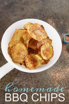 Try this simple + quick recipe for homemade bbq chips. Crispy thin chips that go great with any sandwich, burger or as a snack with your favorite beverage. (via @mkcole)