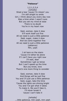 Guns N Roses,patience