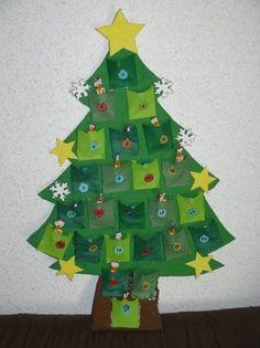 C'est parti pour une série de calendriers de l'Avent en attendant Noël.  Aujourd'hui, je vous présente celui réalisé par Théo.Cette année, il a choisi un sapin de Noël !  Le matériel : - du ...