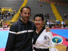 Olga bustos y su entrenador