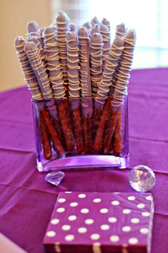 Purple Pretzel Rods