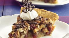 Bake a dessert that appeals to a range of dinner guests. There's something for everyone here, where cherry pie meets pecan pie, drizzled in chocolate.