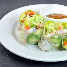 Fresh Spring Rolls with Shrimp and Peanut Dipping Sauce - Pinch and Swirl
