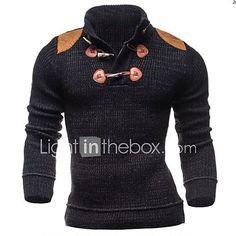 Mens Kangol Knitted Half Zip Jumper Melange Collar Ribbed Cuff Hem Sweatshirt