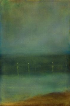 "Resultado de imagem para ""Green and Silver - The Three Clouds,"" James Abbott McNeill Whistler, 1885 James Abbott Mcneill Whistler, Paintings I Love, Seascape Paintings, Landscape Paintings, Nocturne, Sculpture Textile, Art For Art Sake, Art Plastique, American Artists"