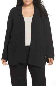 Eileen Fisher Woman/'s Black /& Khaki Windbreaker Rain Coat Size 1X NWT Was $378