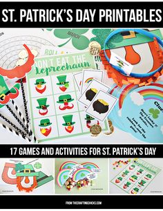 St. Patrick's Printable Pack - 17 Games and Activities!  Family night or class party!