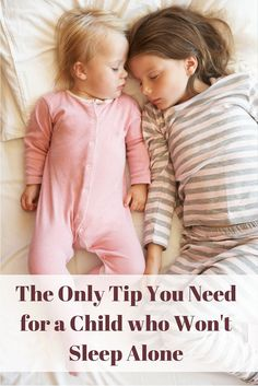 Check out my biggest piece of advice for handling a child who won't sleep by himself. This sleeping tip might be my biggest parenting tip of all time.