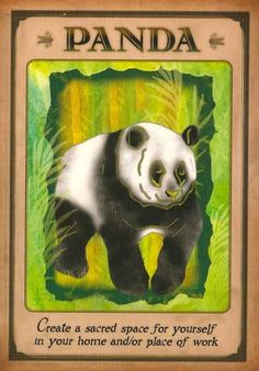 Messages From Your Animal Spirit Guides Oracle Cards: PANDA - by Dr Steven Farmer