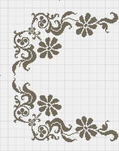 Cross Stitch Rose, Cross Stitch Borders, Cross Stitch Flowers, Cross Stitch Designs, Blackwork Embroidery, Folk Embroidery, Ribbon Embroidery, Cross Stitch Embroidery, Cross Stitch Pattern Maker