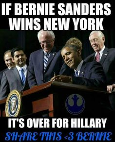 COME ON NEW YORK LETS ROCK THE VOTE & BRING IN A LANDSLIDE FOR BERNIE! NEW YORKERS ARE TOUGH & STRONG & FEEL THE BERN!