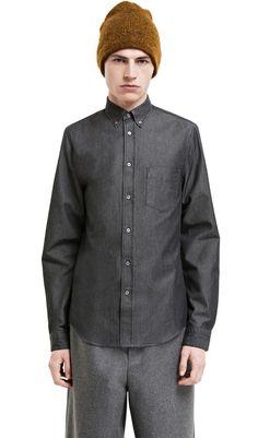 Isherwood black denim shirt #AcneStudios #PreFall2014 #menswear