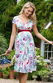 Alessandra Maternity Dress Short Poppy