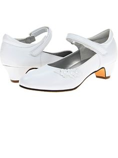 Jumping Jacks White Pageant Shoes