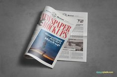 Beautiful Indoor Newspaper Advertising Mockups  Mockup