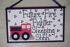 future fire fighter sleeping personalized by CountryCutiesCrafts, $8.99
