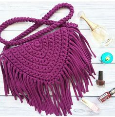 Crochet Patterns Bag 136 Likes, 1 Comments - knitted yarn KNITKA ( . Love Crochet, Crochet Crafts, Crochet Yarn, Crochet Projects, Crochet Bag Tutorials, Crochet Clutch, Crochet Handbags, Crochet Purses, Crochet T Shirts