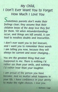 Letter to my children