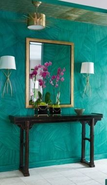 Malachite Emerald Walls - Entrance way
