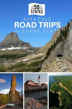 Road trips are a favorite American pastime, with one in four Americans taking a road trip every year. Here are some of the best road trips that can be taken in every state, from Alabama to Wyoming. Us Road Trip, Road Trip With Kids, Family Road Trips, Road Trip Hacks, Family Travel, Summer Road Trips, Best Road Trips, Best American Road Trips, Road Trip Destinations