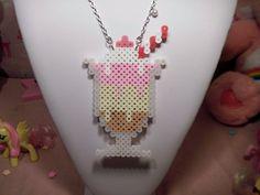 Neapolitan Milkshake perler bead Necklace by Weeabootique