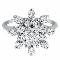 The Rica Ring from Brilliant Earth. It looks like a snowflake :}