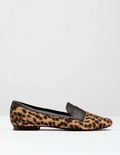 $148 Boden Pony Slipper Shoe Other colours: upper animal print hair on cowhide and leather Lining leather Sole man-made