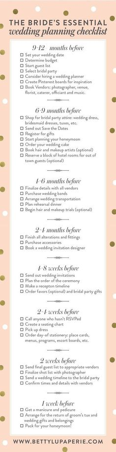 Take a look at the best wedding planning checklist in the photos below and get ideas for your wedding!!! How To Become a Wedding Planner, Tips for Becoming a Wedding Planner  #WeddingAdviceIdeasTips