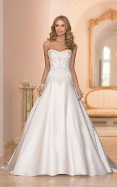 Wedding Dresses - Vintage A-Line Wedding Dress by Stella York - Style 5973