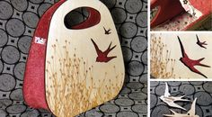 """Rate This Concept Now! Designer:Jenna Fribley Category:Bags Year:Present-2020 Overview:Purses fabricated from laser-cut 1/8"""" birch plywood and small-batch hand-dyed wool felt. Visit This Concep..."""