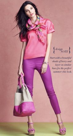 Again - I love this denim! I have this color, too! Ultraviolet pink!