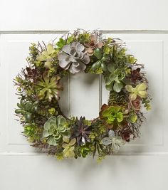 Bring home the fun and celebration of holiday season with exciting adornments like the Bloom Room Succulent Mix Spiral Twig Wreath. This colorful floral arrangement comprises a blend of flowers, twigs